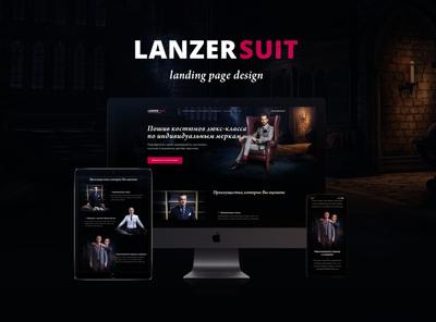landing page design for tailoring studio