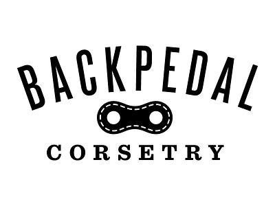 Backpedal logo bicycle fashion corset fetish