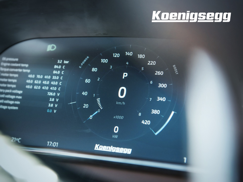 Koenigsegg Regera Cluster meter vehicle kmh gauge speed car ux ui interface cluster regera koenigsegg