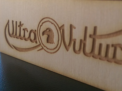 Laser Cut Ultra Vulture logo logo laser cutting