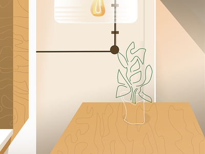 Cafe Interior minimal interior illustration
