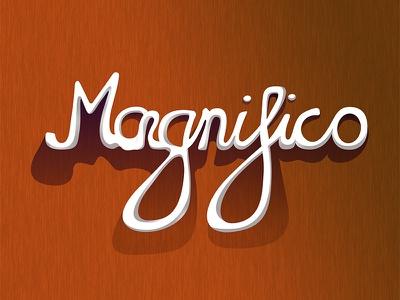 Magnifico typography type lettering