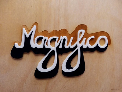 Magnifico Laser Cut vector handmade laser lasercut typography type lettering