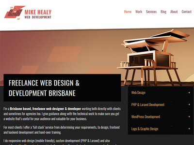 MikeHealy.com.au portfolio interface ui web