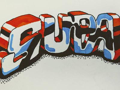 Supa Marker Lettering graffiti type lettering