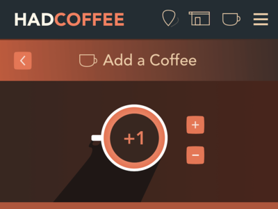 HadCoffee UI coffee web app ui