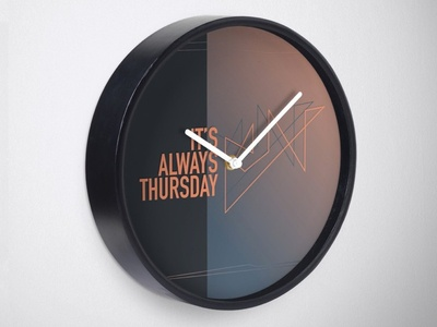 Always Thursday Clock geometric minimal typography type