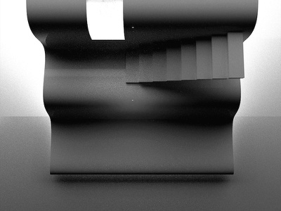 Curvy Stairs minimal 3dfordesigners abstract 3d