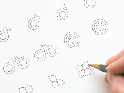 Double Time Logo Sketches app icons branding concept vector illustration flat logo design logo design brand design brand branding design visual identity logodesign logos logo logo mark black and white logo black and white branding