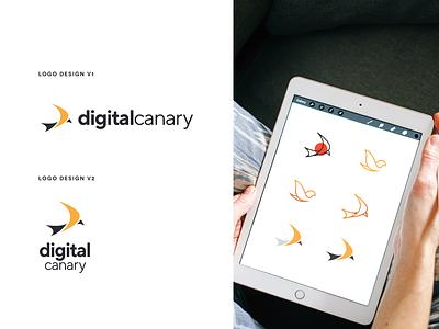 Digital Canary Brand Design visual identity ui ux branding design icon design brand identity icons digital ai mark identity typography logo logotype logodesign icon vector