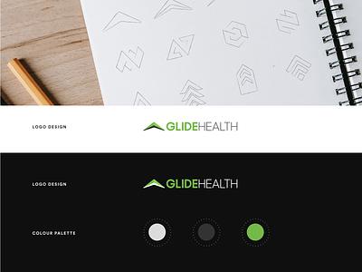 Glide Health Branding icons mark icon design typography brand identity design brand design visual identity design icon logodesign logotype logo brand branding visual identity