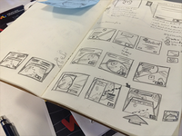 Sketches for the Intellicast app ads.
