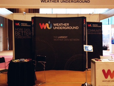 WU Booth at InterMET Asia, Singapore singapore weather weather underground booth