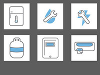 Early draft safety icons
