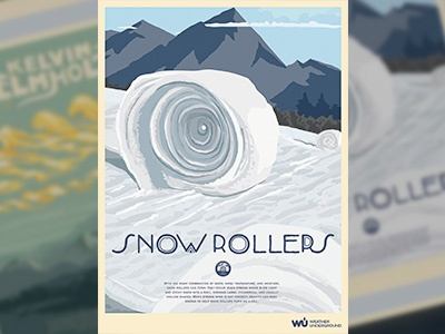 Snow Roller Poster weather snow poster