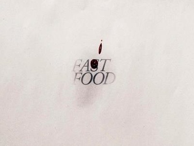 Fa-t Food throwback student poster