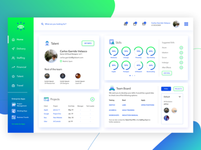 Concept Staffing Tool Home Page