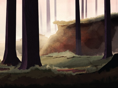 The Forest 02 illustration colin hesterly concept photoshop