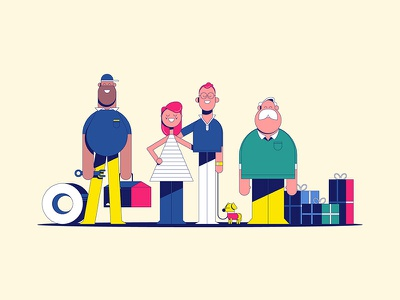 """Michelin - """"Doug"""" Characters illustration michelin animation character design not to scale colin hesterly"""