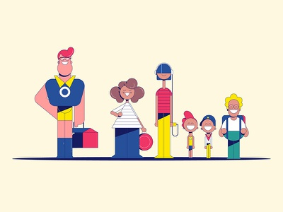 """Michelin - """"Meg"""" Characters illustration michelin animation character design not to scale colin hesterly"""
