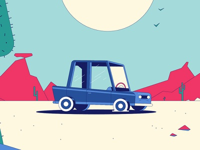 """Michelin - """"Desert Night"""" Plate illustration michelin animation character design not to scale colin hesterly"""