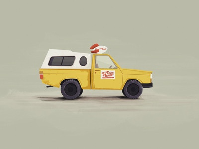 Mr. Pizza Planet Truck! illustration colin hesterly toy story pixar fun time