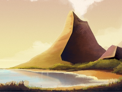 The Island 01 illustration colin hesterly concept photoshop