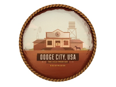 Dodge City, USA colin hesterly illustration the everywhere project photoshop illustrator cowboys wild west the wild frontier