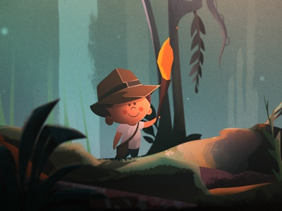 When I Grow Up... The Jungle colin hesterly illustration the academy fun time animation character design jungle indiana jones short animated film