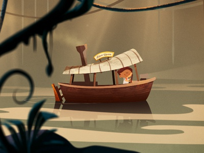 When I Grow Up... The Rivers colin hesterly illustration the academy fun time animation character design jungle cruise the african queen river boat short animated film