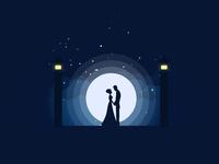 Couple in Moonlight