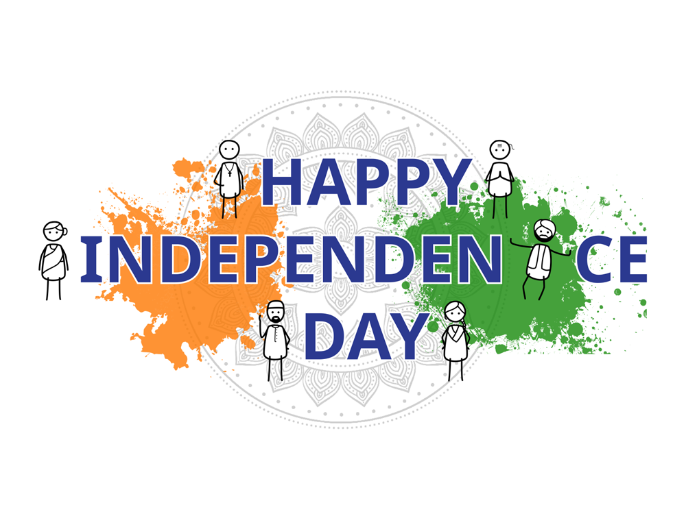 Indian Independence Day - 15th August liberty freedom design 2d illustration artwork stick figure india independence