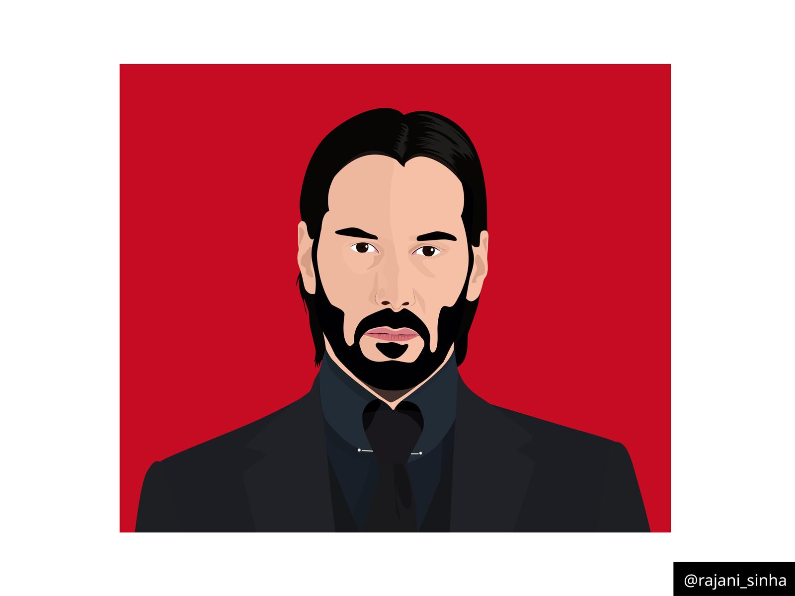 Keanu Reeves John Wick By Rajani Sinha On Dribbble