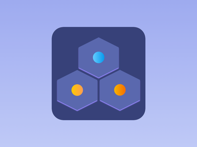 Icon for Hexadots game app androidapp sketchapp illustration figma app design minimal app icon app ui app store mobie app icon mobile app design uiuxdesign