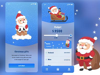 Glassmorphism - Christmas concept - choose gift sketchapp illustration uplabs figma ios app design mobile design mobile ui mobile app design gifts santa christmas glassmorphism uiuxdesign
