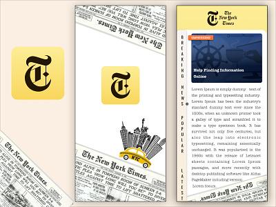 New York Times App Redesign newsapp androidapp uplabs new york mobile app design illustrator mobile app challenge uiuxdesign sketchapp iosapp