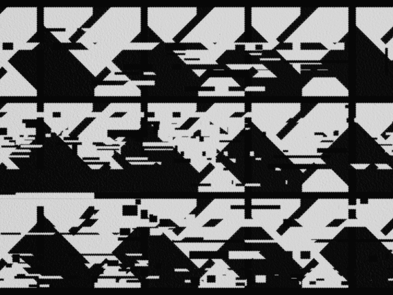 Ligeti alphabet glitch avant-garde abstract art experimental graphic design alphabet font typography abstract