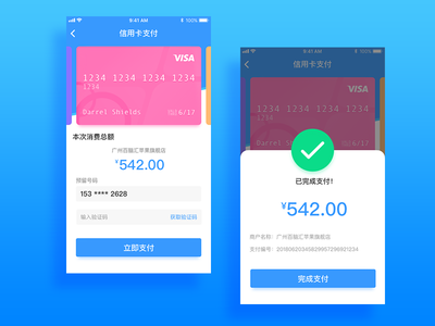 The practice of a payment interface