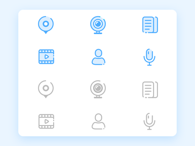 A few small icon of an APP