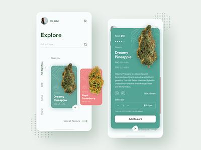 Stay Medicated 420 ui ux figmaafrica figma 420 smoking app interface green weed app weed application high dream app design cbd cannabis