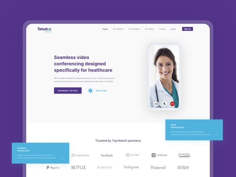 Teladoc Health Landing Page webdesign website dashboad landingpage videochat health telemedicine app figmaafrica figma ui ux