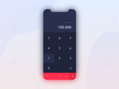 IPhone X Calculator app calculator ui concept ux dayliui