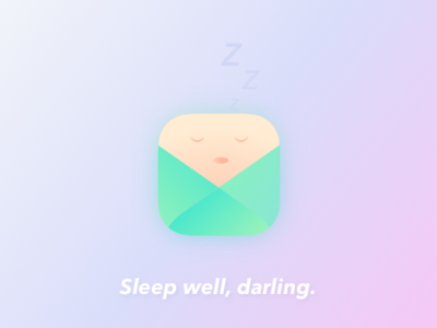 Sleep well, darling. baby tracker sleep appicon dayliui