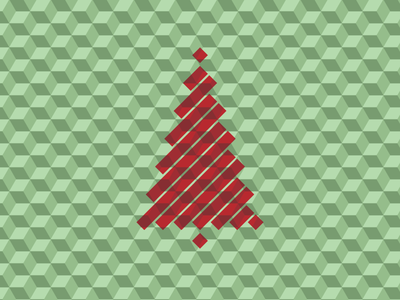 Christmas 2012 christmas tree pattern optical illusion
