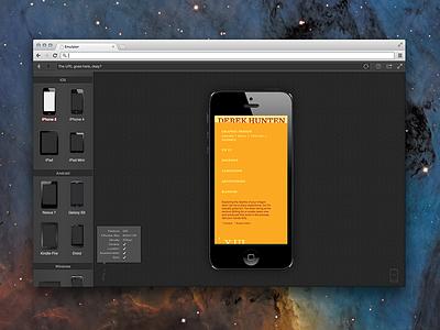 Mobile Device Emulator Webapp app ui grey tooltip ux webapp