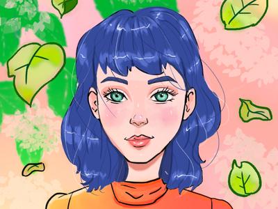Digital portrait : Pearl