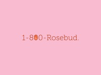 30 logos challenge #6 - 1-800-Rosebud (Big)