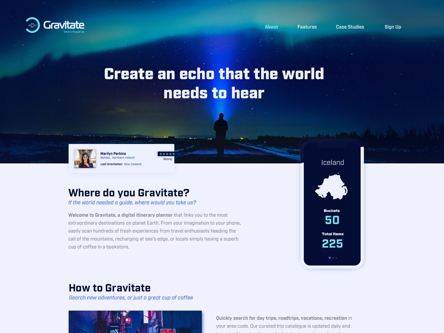 Gravitate Product Page webdesign productpage gravitate product