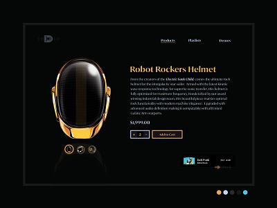 Robot Rockers Helmet helmet rock daftpunk ecommerce product