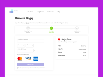 Donation Payment Page